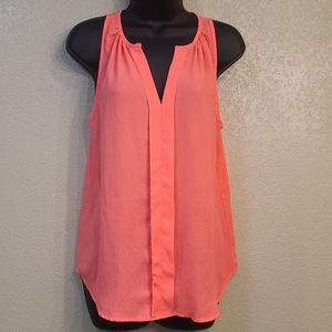 Meraki Hot Pink Sheer Material Tank Top